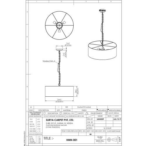 "Holloman HMN-001 8""H x 22""W x 22""D"