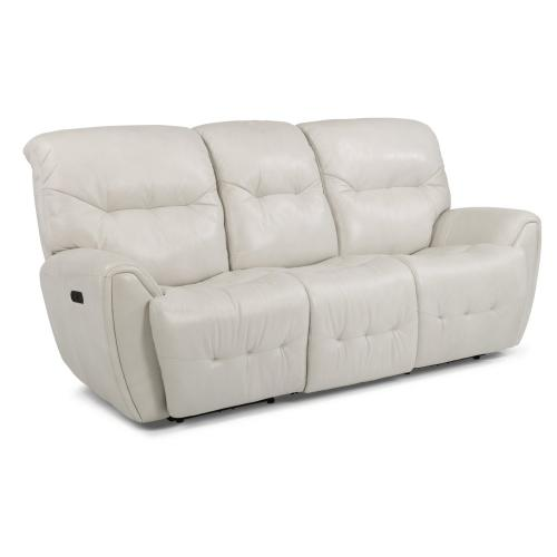 Craze Leather Power Reclining Sofa with Power Headrests