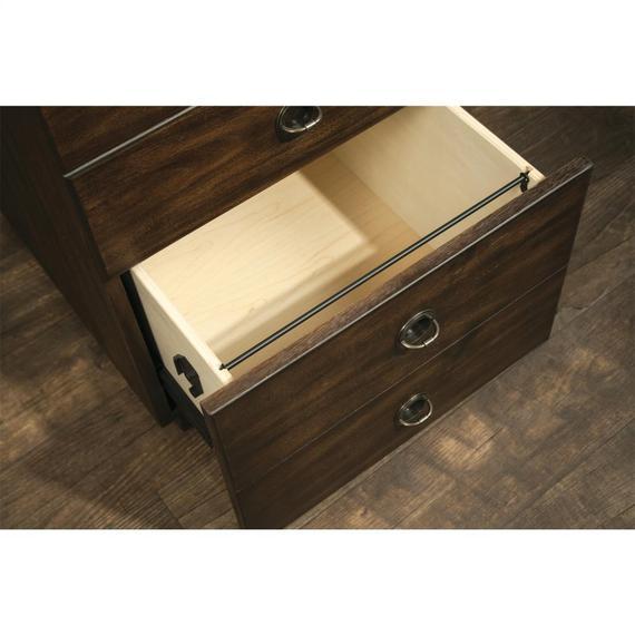 Riverside - Perspectives - Mobile File Cabinet - Brushed Acacia Finish