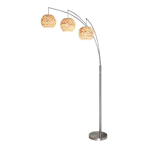 "85""h 3 Arc Arm Floor Lamp"