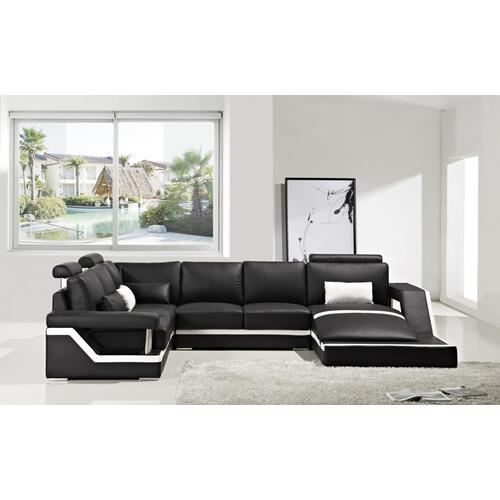 Divani Casa T271 - Modern Leather Sectional Sofa