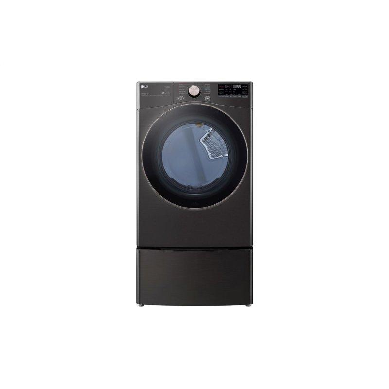LG 7.4 cu. ft. Ultra Large Capacity Smart wi-fi Enabled Front Load Gas Dryer with TurboSteam™ and Built-In Intelligence