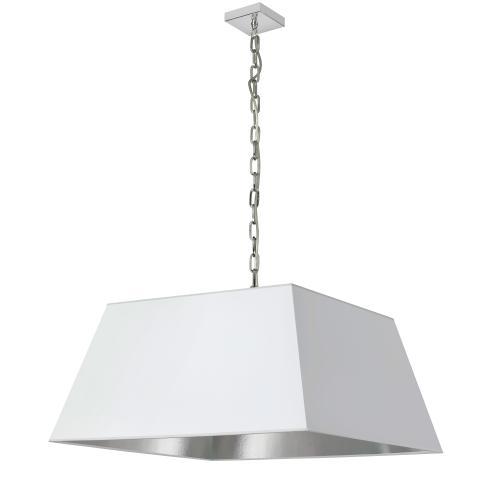Product Image - 1lt Milano Large Pendant, Wht/slv Shade, PC