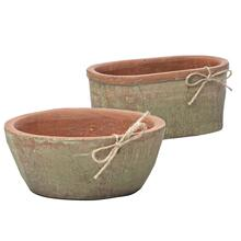 Pressed Low Oval Bowl Petits Pot