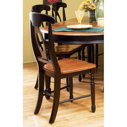 Napoleon Side Chair in Honey and Espresso Finish
