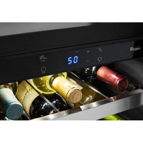 Whirlpool - 15-inch Wide Undercounter Wine Center with 34-Bottle Wine Storage