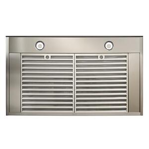 Ispira 36-in. 650 Max CFM Stainless Steel Chimney Range Hood with PURLED Light System and Black Glass