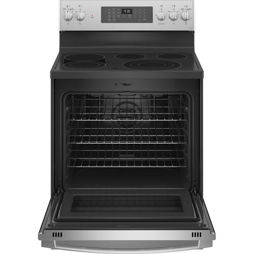 "GE Profile™ 30"" Smart Free-Standing Electric Convection Fingerprint Resistant Range with No Preheat Air Fry"