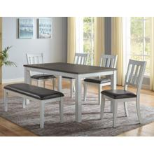 Robin 6-Pack Dining (Table, Bench & 4 Side Chairs)