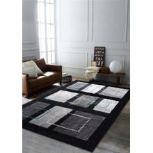 "Vibrant Hand Tufted Modern Shag Lola 15 Area Rug by Rug Factory Plus - 7'6"" x 10'3"" / Black Gray"