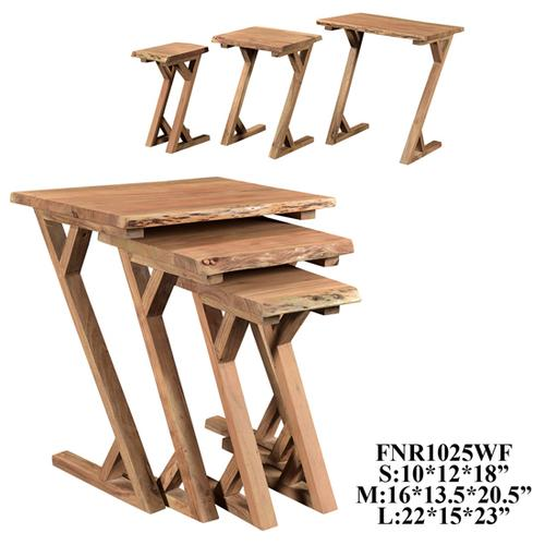 Crestview Collections - S/3, ACACIA Z TABLE, 1 SET/ 5.9'