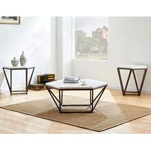 Corvus 3-Piece Marble Top Set (Cocktail & 2 End Tables)