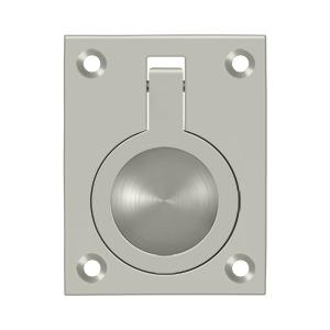 "Deltana - Flush Ring Pull, 2-1/2"" x 1-7/8"" - Brushed Nickel"