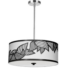 4lt Pendant Polished Chrome Black & White Shade
