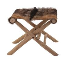 Andros Animal Hide Folding Stool