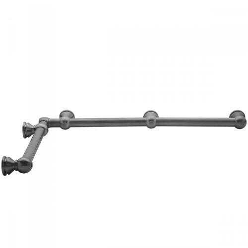 "Pewter - G33 24"" x 60"" Inside Corner Grab Bar"