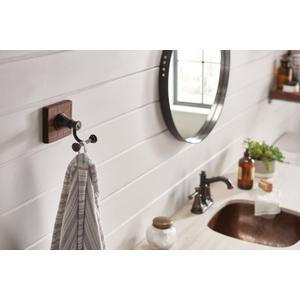 Belfield oil rubbed bronze double robe hook