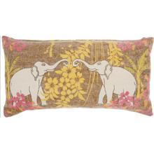 "Life Styles Gt651 Multicolor 16"" X 32"" Lumbar Pillow"