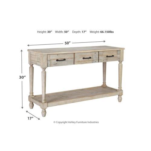 Shawnalore Sofa Table Whitewash