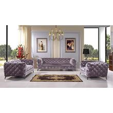 Divani Casa Delilah Modern Grey Fabric Sofa Set