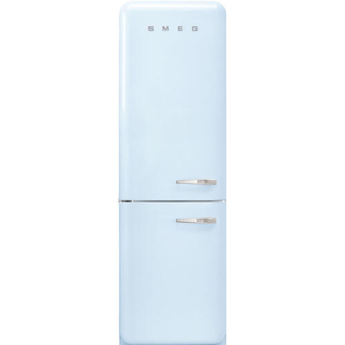 "'50s Style No Frost' Fridge-Freezer, Pastel Blue, Left Hand Hinge, 60 cm (Approx 24"")"