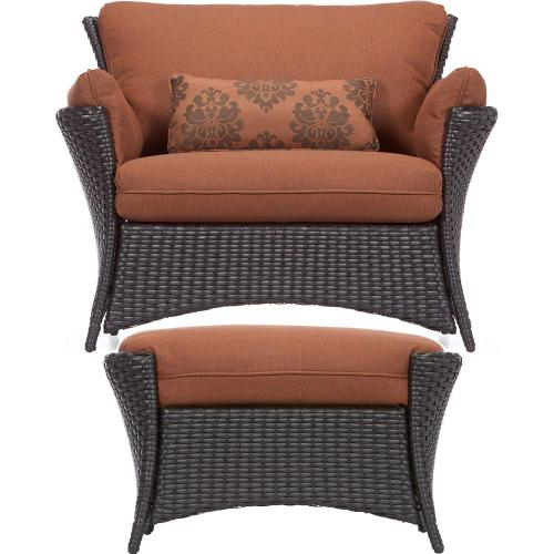 Hanover Strathmere Allure 2 Pc. Set - Oversized Armchair and Ottoman, STRATHALLURE2PC
