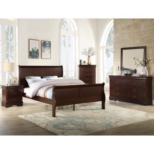 Crown Mark - Louis Philip Cherry Queen Bedroom Suite