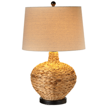 Braided Natural Woven Table Lamp. 150W Max. 3 Way Switch.