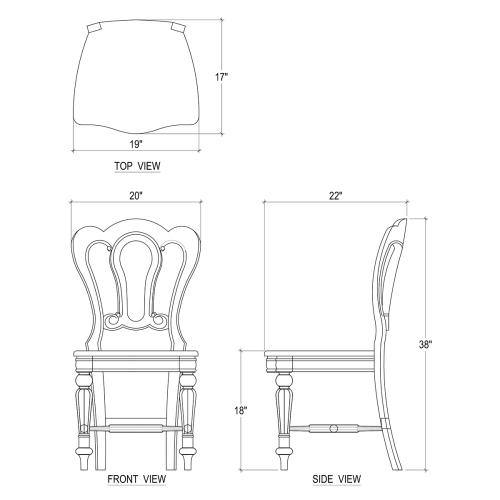 Product Image - Napoleon Dining Chair w/ Carving on Back - WHD