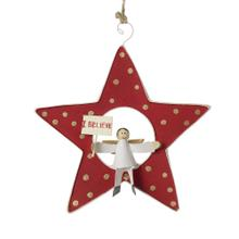 "1"" x 5"" Red Shooting Star Ornament (Angel Option)"