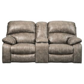 Dunwell Power Reclining Loveseat/Console/Adjustable Headrest Driftwood