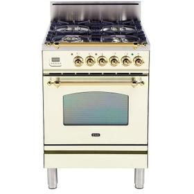 24 Inch Antique White Natural Gas Freestanding Range