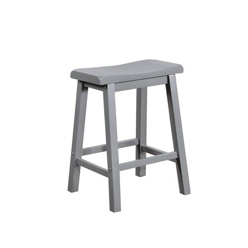 24-inch Saddle Seat Counter Stool, Grey