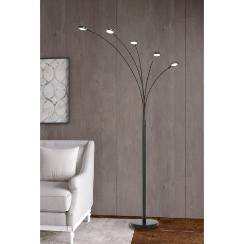 Cremona integrated LED Metal Arc Floor Lamp