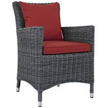 Summon Dining Outdoor Patio Sunbrella® Armchair in Canvas Red