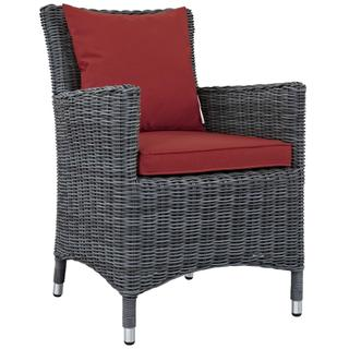 Summon Dining Outdoor Patio Sunbrella® Armchair in Canvas Red