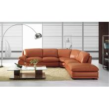 BO 3920 Modern Camel Leather Sectional Sofa