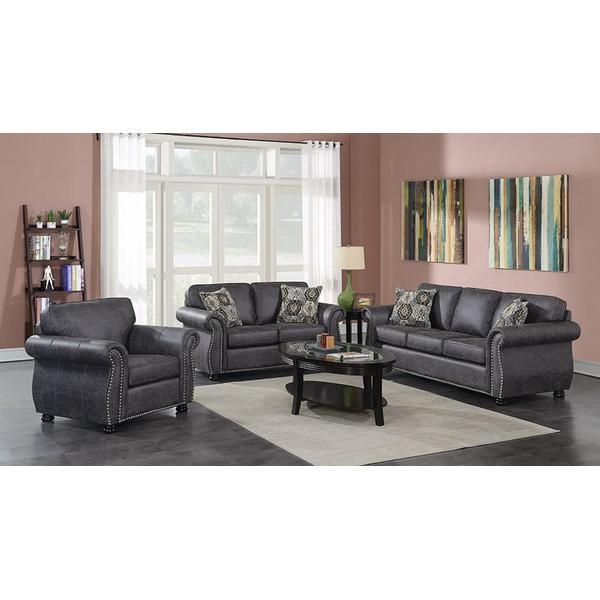 See Details - Elk River Gray Sofa, Loveseat, Chair & Ottoman, U9702A