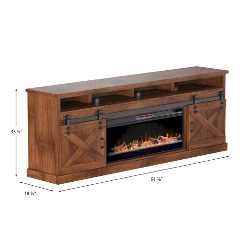 "Farmhouse 94"" Fireplace Console"
