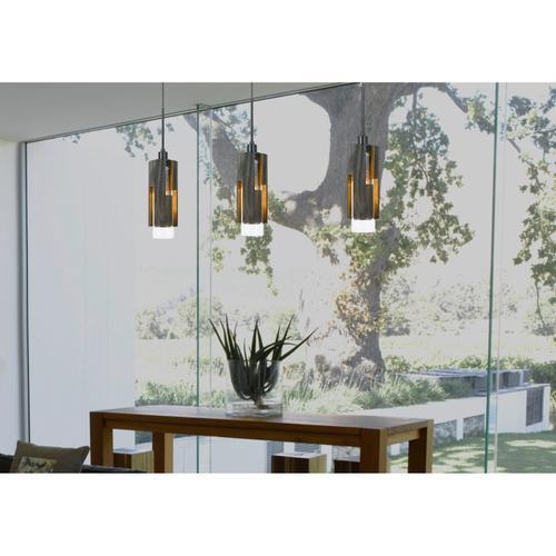 60W Reggio Wood Pendant Glass Fixture (Edison Bulb Not included)