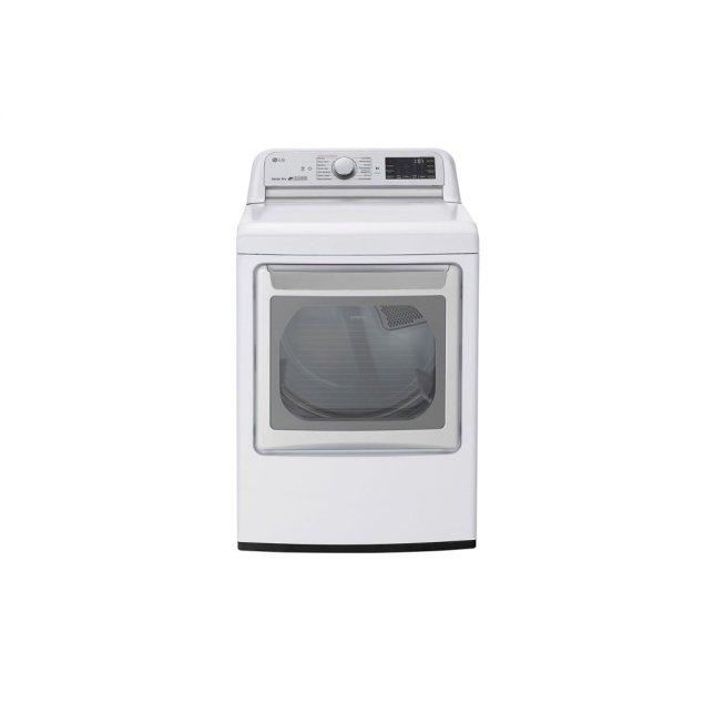 LG Appliances 7.3 cu.ft. Smart Wi-Fi Enabled Electric Dryer with TurboSteam™