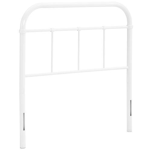 Serena Twin Steel Headboard in White