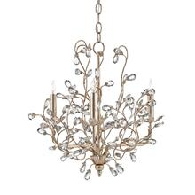 View Product - Crystal Bud Silver Small Chandelier