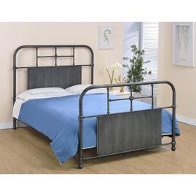 Cheriton Bed - Full, Antique Black Finish