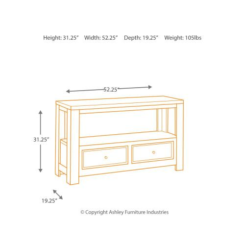 Gavelston Sofa/console Table