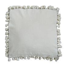 """(LS) Rhoda Tassel Square Pillow (22"""" X 22"""") - Oatmeal"""