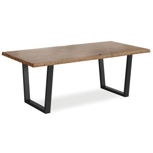 Tea Tree Dining Table 2100 Metal Base