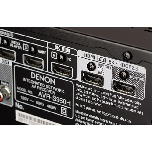 Denon - (2020 Model) 7.2ch 8K AV Receiver with 3D Audio, Voice Control and HEOS® Built-in