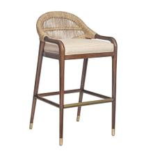 See Details - Thatch Chronograph Low Back Abaca Counterstool