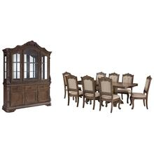 Dining Table and 8 Chairs With Storage